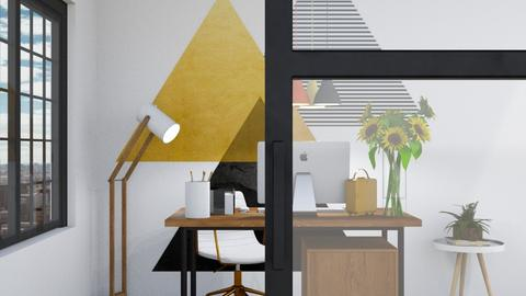 Yellow Working Space - Office  - by FANGIRLdesigner