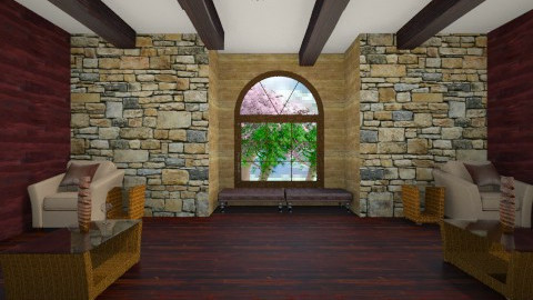 My Barn House Makeover - Rustic - Living room  - by tina45
