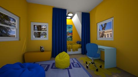 Blue and Yellow Nook - Bedroom  - by KatDesign9