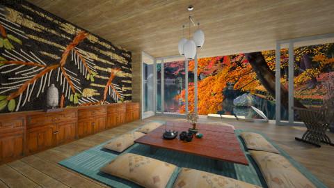 Shibori Dining - Rustic - Dining room - by russ
