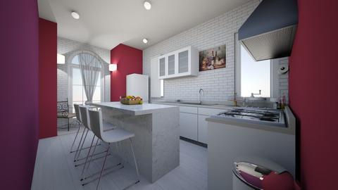 Magenta_Violet_Kitchen - Feminine - Kitchen - by yzzaym