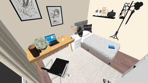 Nowy pokoj - Minimal - Bedroom  - by CrezyCrasz