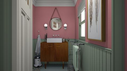 Mint and Pink powder room - Vintage - Bathroom  - by HenkRetro1960
