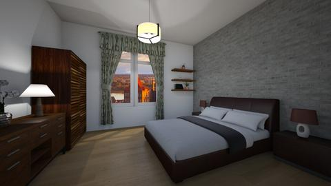 Brown - Classic - Bedroom  - by Twerka