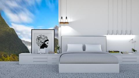 white master bedroom - Bedroom  - by Miriam09