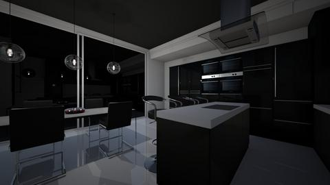 kitchen all black - Kitchen - by Asia Liberkowska