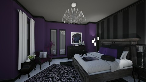 Purple Magic - Bedroom - by Sandra Janeth