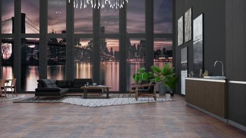 Industrial Modern - Modern - Living room  - by NEVERQUITDESIGNIT