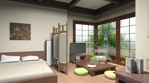 Japanese room - Minimal - Bedroom  - by idna