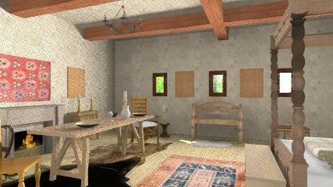 Medieval - Rustic - Bedroom  - by Beta Vincze