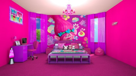 Trolls Movie Theme Room - Modern - Kids room  - by creato