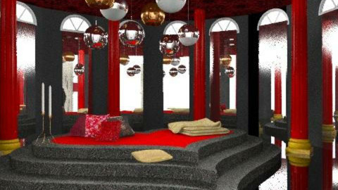 black and red - Eclectic - Bedroom  - by chania