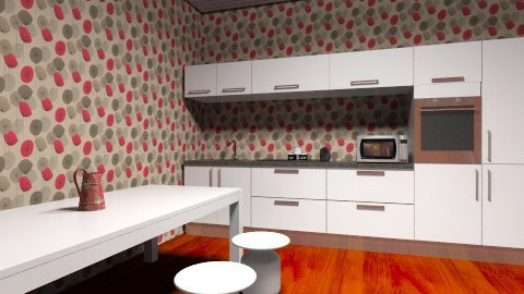 Fun Kitchen - Vintage - Kitchen  - by Riley Hubanks