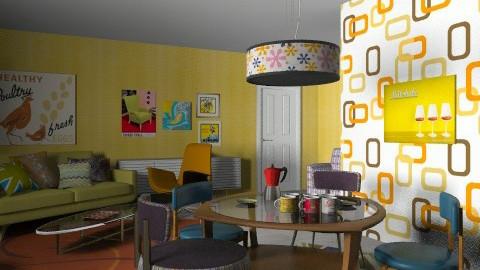 retro diva  - Retro - Dining room  - by chania