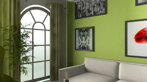 green - Minimal - Living room  - by Rizzel