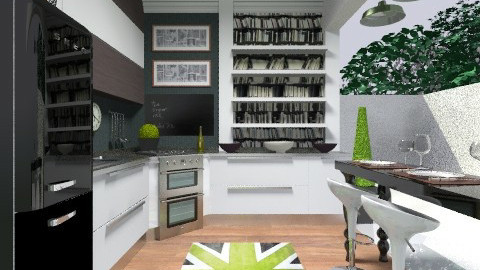 3x3 kitchen1 - Glamour - Kitchen  - by tiffanynichole