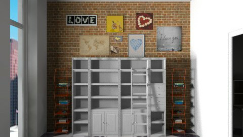 WHITE BLACK  - Retro - Living room  - by 1930