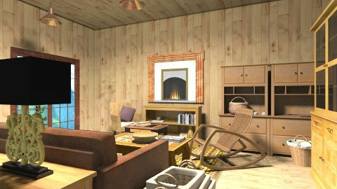 cottage - Rustic - Living room  - by cutypie1