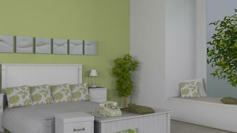 Green - Country - Bedroom  - by CaraNicole