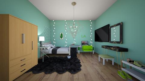 GREEN ROOM  - Bedroom  - by WHATEVER LOL