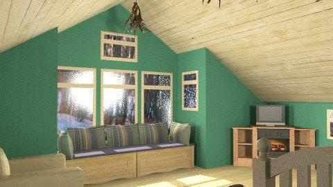 Mountian Room - Rustic - Bedroom  - by drummerx33grl17