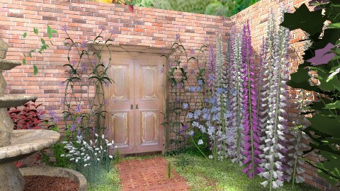 Secret Garden Gate - Vintage - Garden  - by starsector