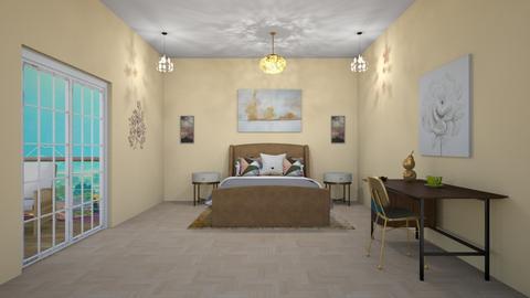 greek golden room  - Glamour - Bedroom  - by aschaper