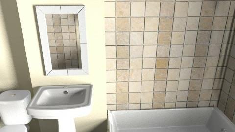 Final Bath1 - Minimal - Bathroom  - by chappysap1