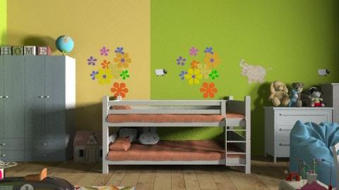 Colourful mess - Kids room  - by KittiFarkas