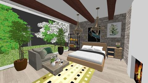 Sage Green Bedroom - Living room  - by ekaterine