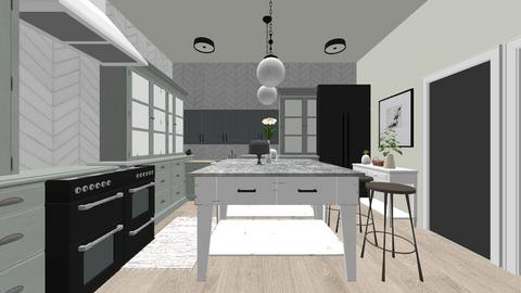 Glam farmhouse kitchen - Vintage - by daly5436