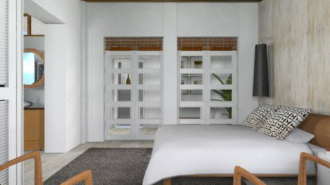 WalnutWhite MasterBedroom - Modern - Bedroom  - by liling