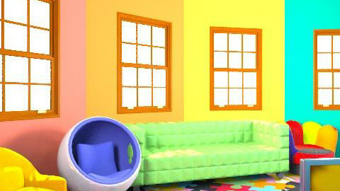 Rainbow room - Retro - Kids room  - by twindeco