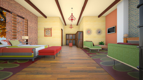Autuman - Eclectic - Bedroom  - by decordiva1