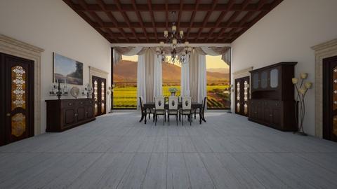 ranch - Dining room - by Carlos Gonzalez_886