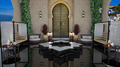 Moroccan Courtyard - by milica tanurdzic