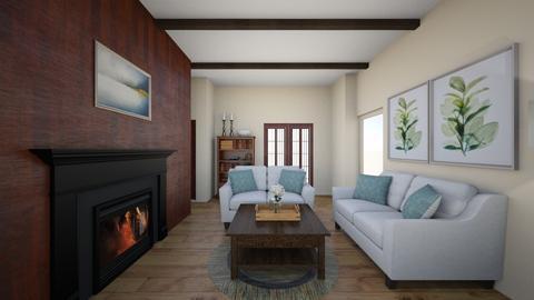 SH Great Room Option 2 - Living room  - by ocsroom