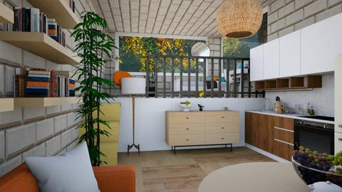 Container house - Living room  - by Jana Nedeljkovic