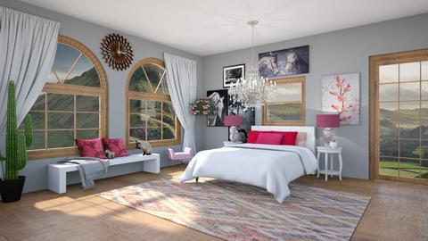 pink bedroom  - by HorseGirl_E09