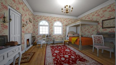 1700s Room - Vintage - Bedroom  - by Sophia Cooper