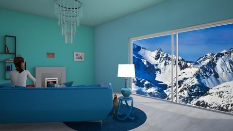 Mountain Icy Hut - Living room  - by Princapessa10