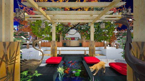 East Meets West_view 8 - Garden  - by dZynerSuPreme