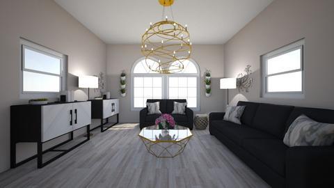 asymetrical - Living room  - by kendalllynnmoore