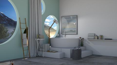 Round Bath - Modern - Bathroom  - by IcyRosyRake2