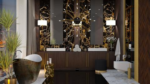 Golden Bath - Bathroom - by JennieT8623