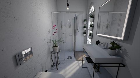 Mini green bathroom - Bathroom  - by barbararrooyo