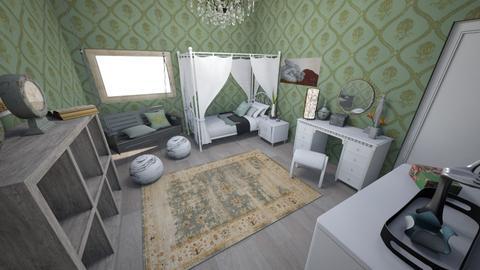 Soft Sage Bedroom - Vintage - Bedroom  - by KajsaRain
