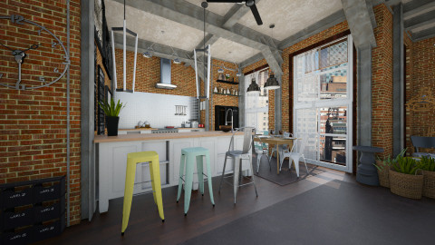something - Modern - Kitchen  - by Evangeline_The_Unicorn