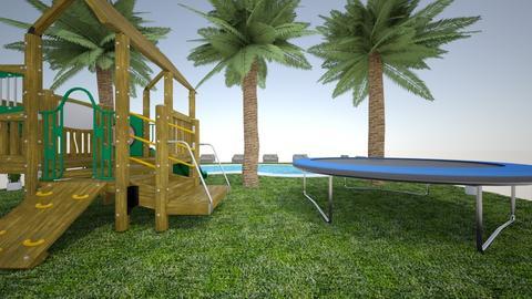 luxury backyard 1 - Modern - by atlas design