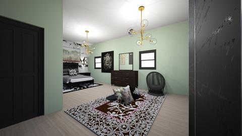 DarkGreen001 - Masculine - Bedroom  - by Mucil28